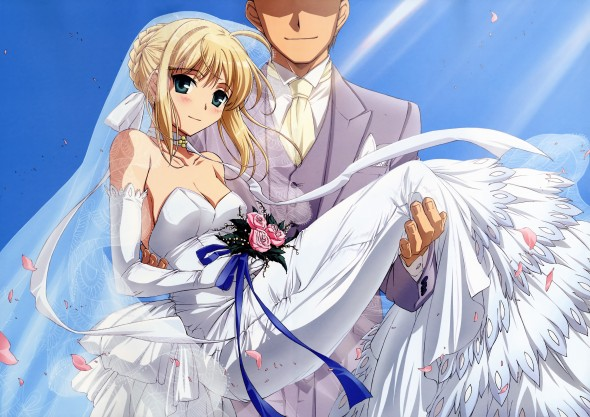 Fate/stay night Saber wedding