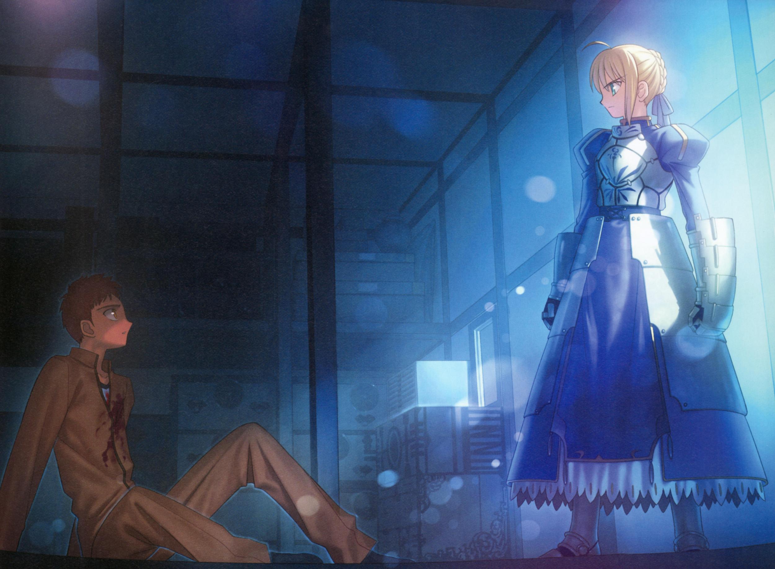 Shirou summons Saber