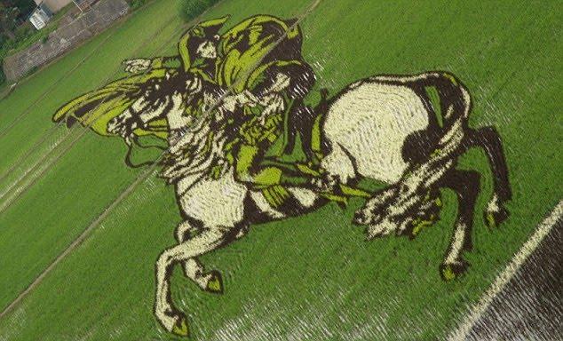 Japanese Rice Fields Made Into Art -- Whoa!