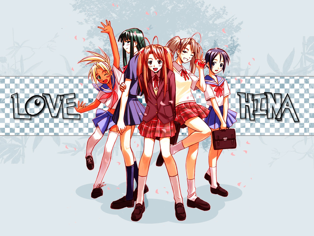 Love Hina School Girls