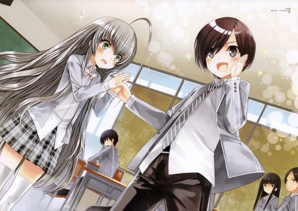 [Haiyore! Nyaruko-san] Mahiro touches Nyaruko