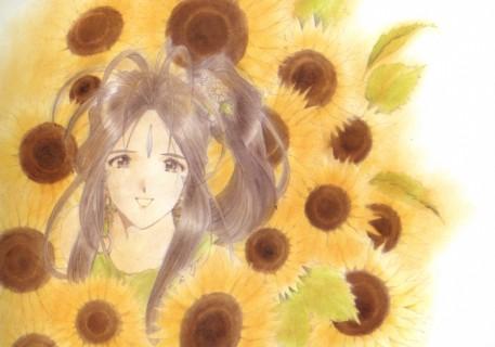 Ah! My Goddess - Belldandy - Sunflowers