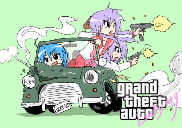 Grand Theft Auto Lucky City Game Parody