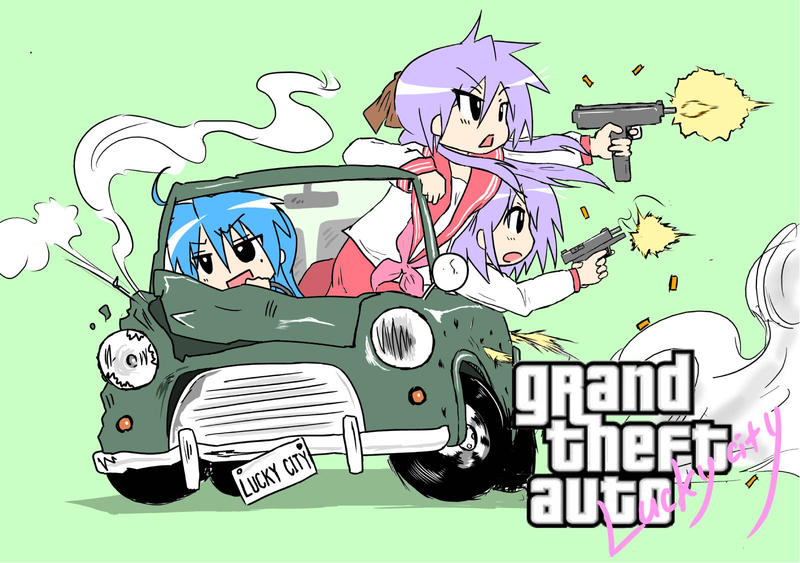 Grand Theft Auto Lucky City Game Parody