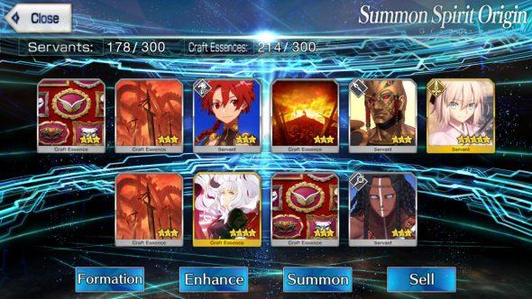 Fate/Grand Order Gacha