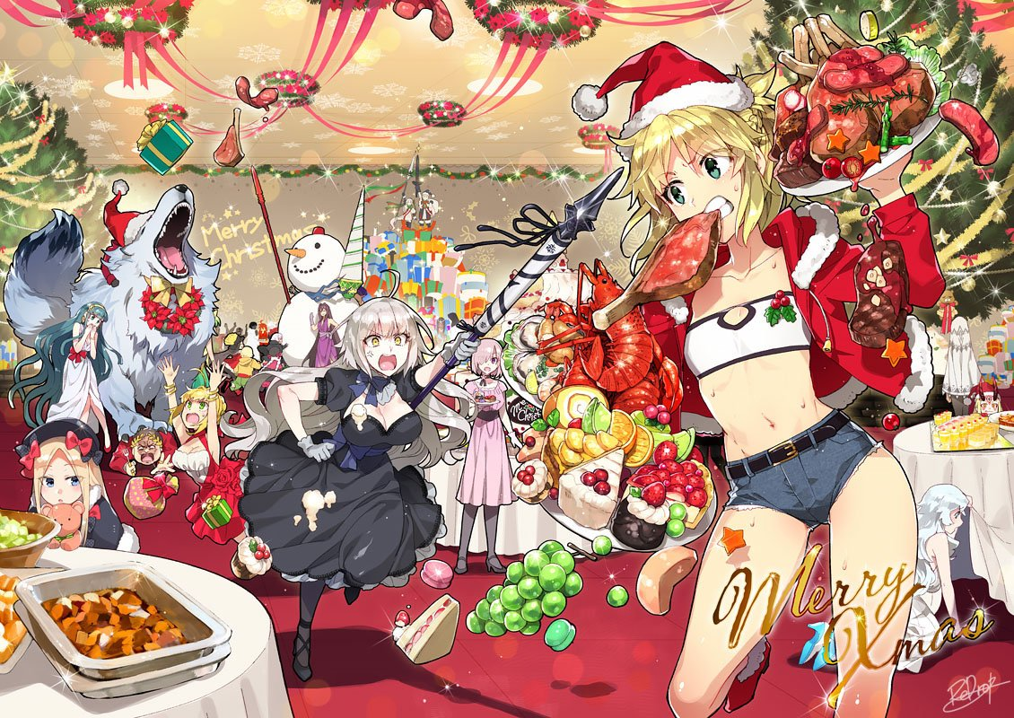 Fate/Grand Order Christmas Party Food