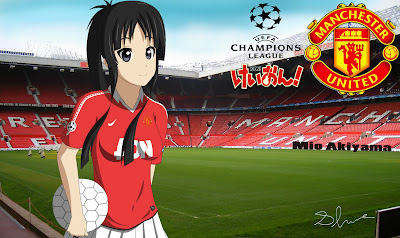 K-On's Mio-chan is a Manchester United Football (Soccer) Fan