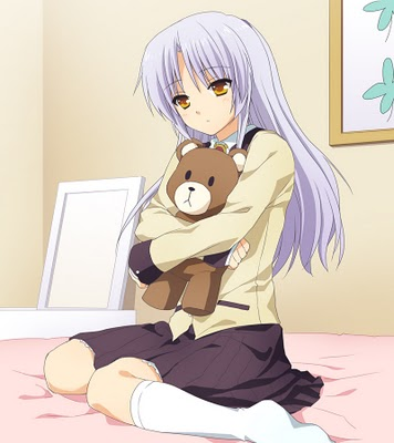 Angel Beats! Tenshi and bear